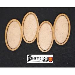 Socle Régimentaire ellipse 50x25mm 1x4 type 2