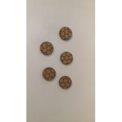 Socle rond gravé - Pavage hexagonale
